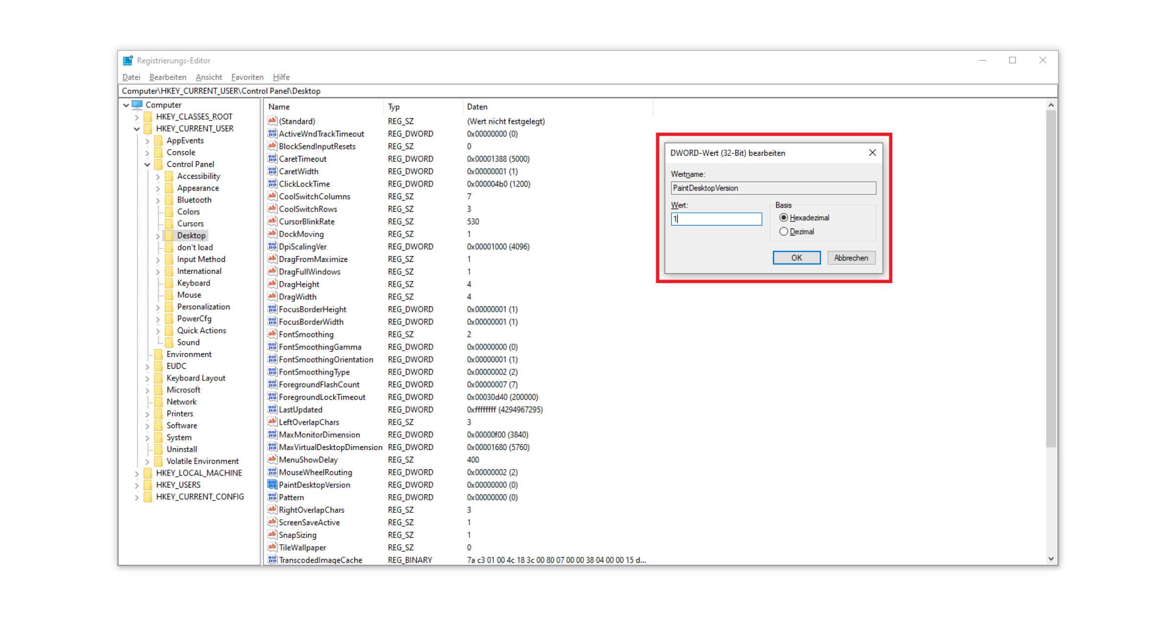 Im Registry Editor den Schritt zur Aktivierung von Windows umgehen