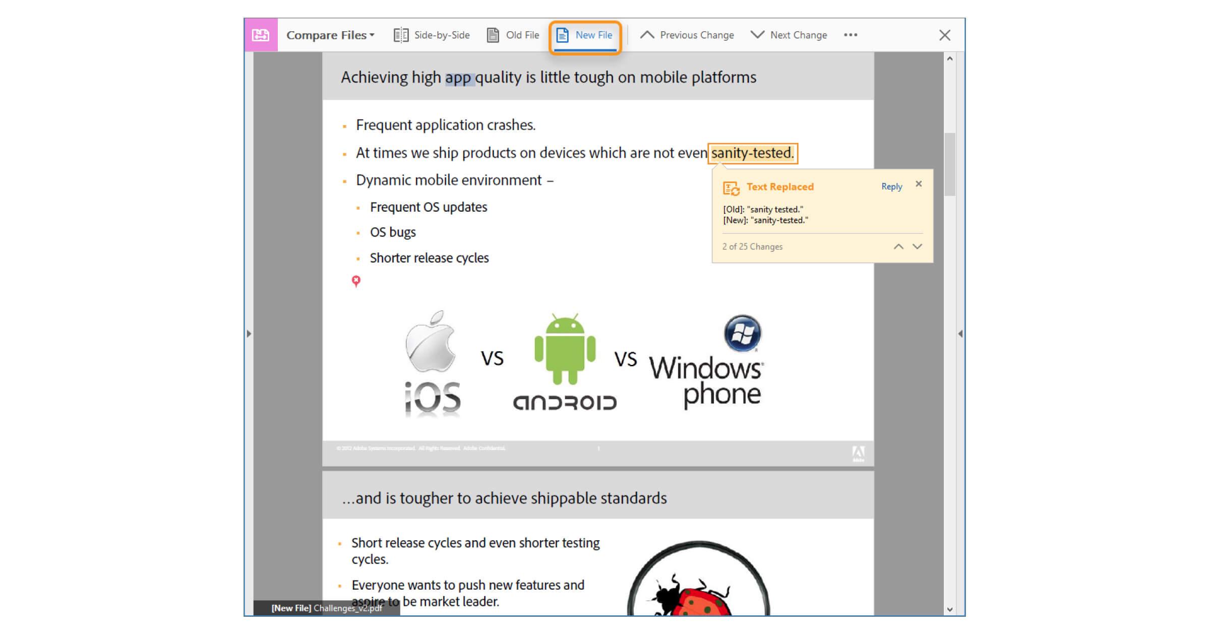 Zwei PDF vergleichen mithilfe von vielen weiterführenden Funktionen