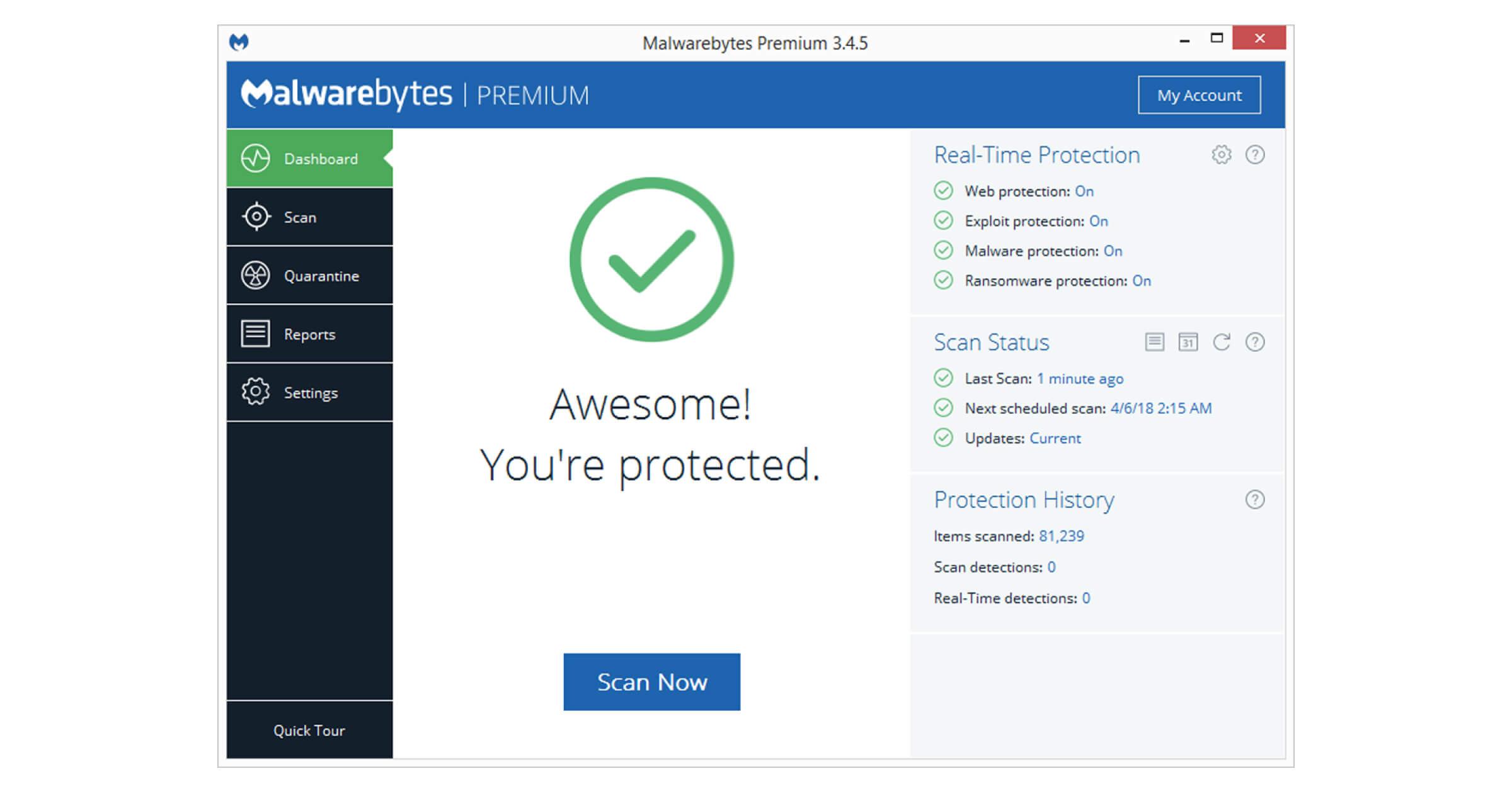 Mit Malwarebytes Premium kannst du Segurazo entfernen