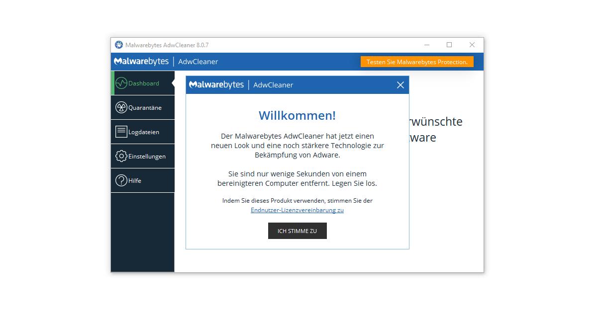 Nach dem AdwCleaner Download direkt loslegen