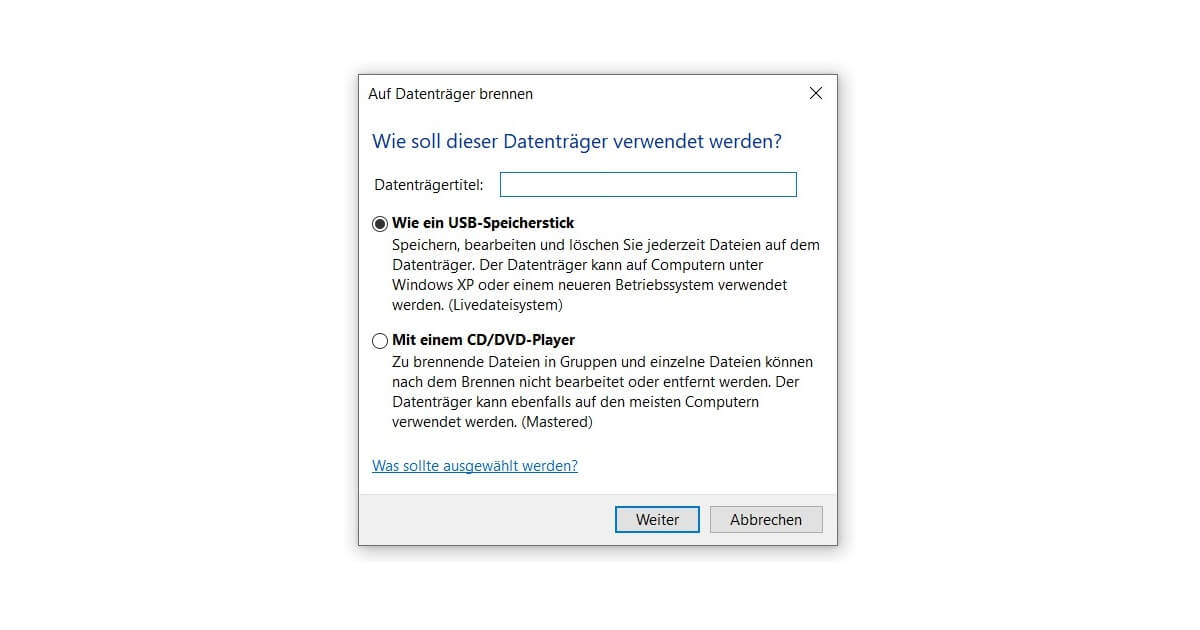 Ganz einfach unter Windows 10 DVD brennen oder kopieren