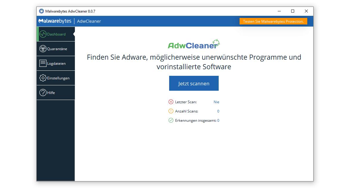 Malwarebytes AdwCleaner entlarvt Adware und unerwünschte Programme