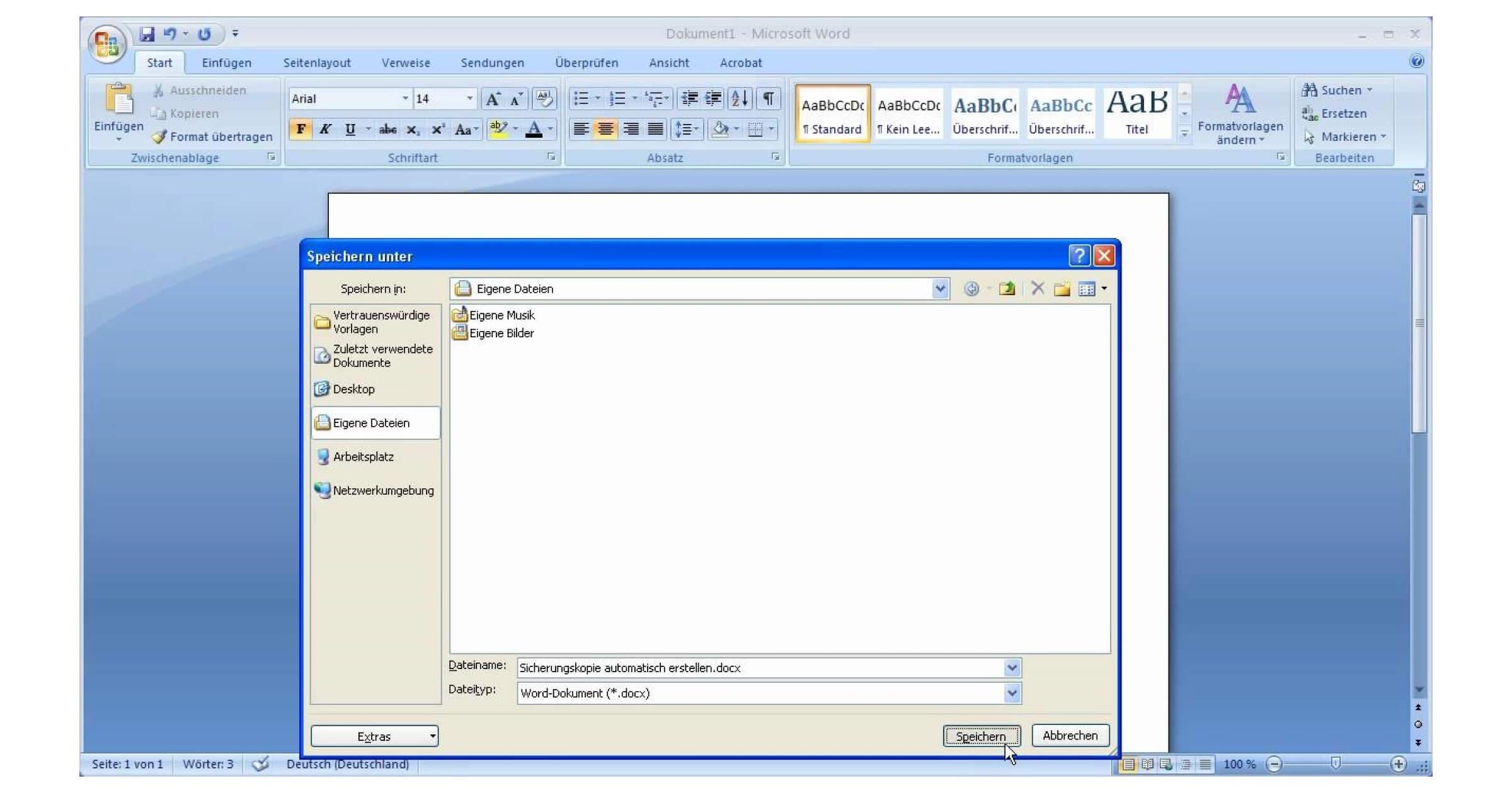 Schon in Microsoft Word 2007 konntest du eine DOCX Datei öffnen