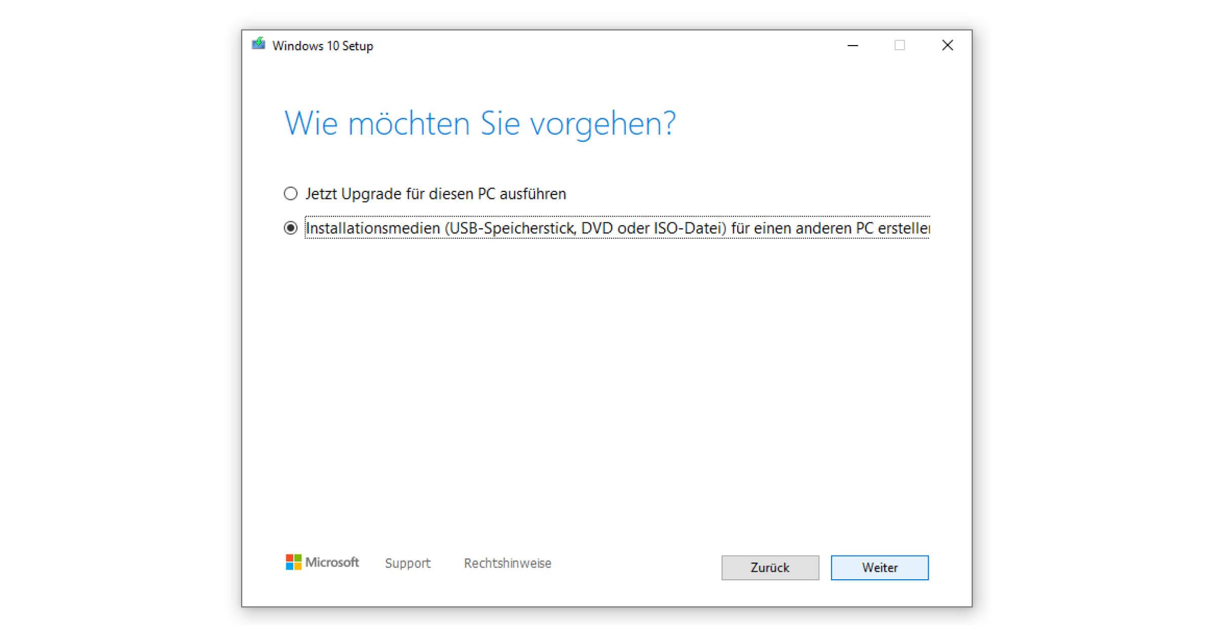 Das Upgrade von Windows 10 behandeln wir an anderer Stelle