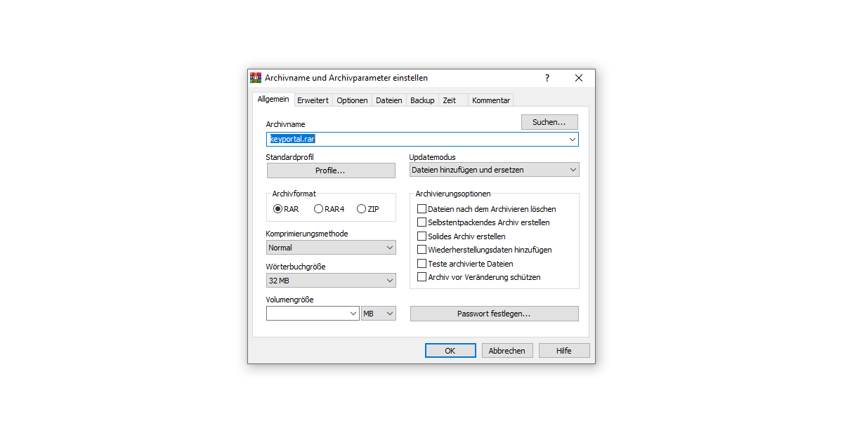 Was ist WinRAR erklärt dir das Programm selbst