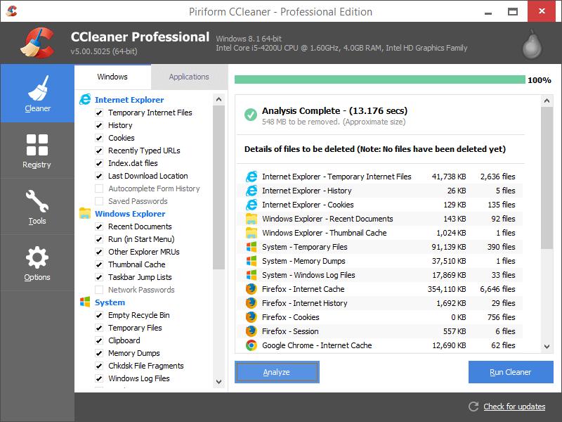 Mit dem CCleaner von Avast den PC aufräumen und bereinigen