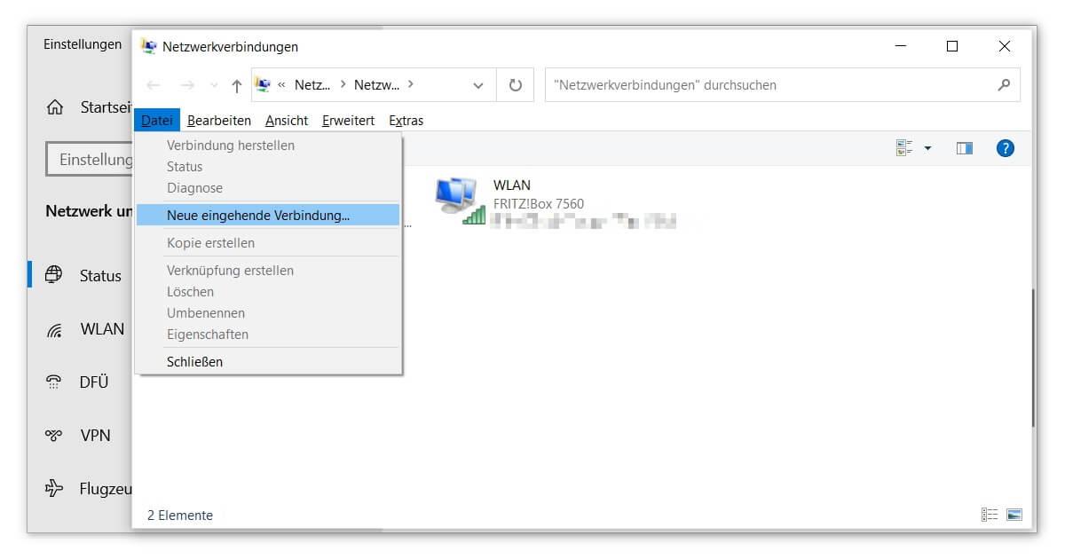 Unter Windows 10 VPN einrichten