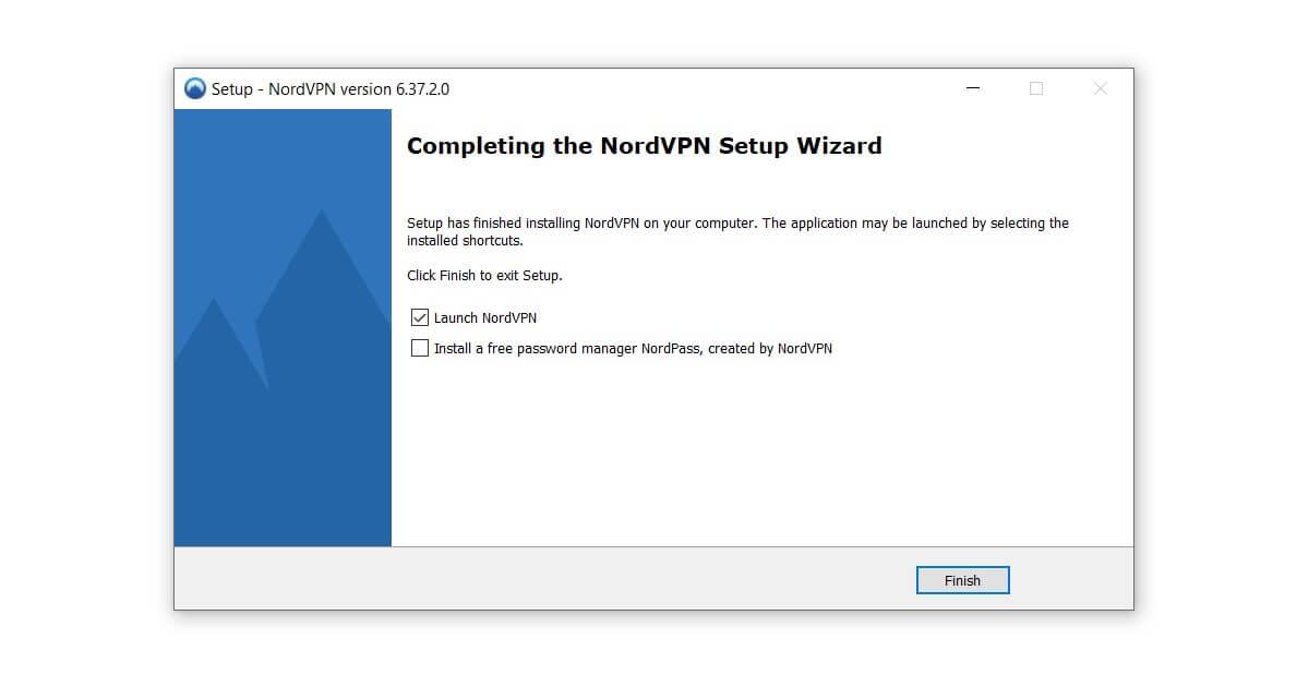 Installation abschließen und VPN-Dienst starten