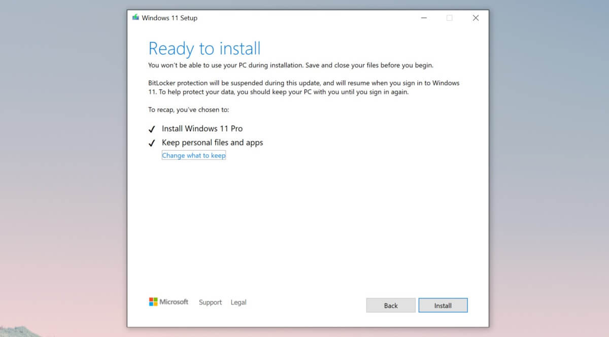 Die Installation im Windows 11 Leak