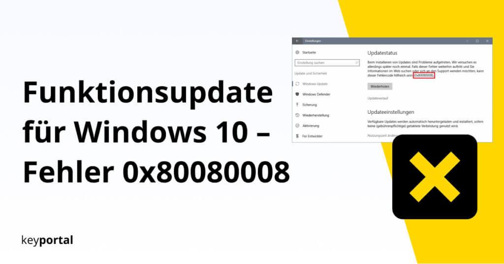 Lösung für Windows Fehler 0x80080008 finden