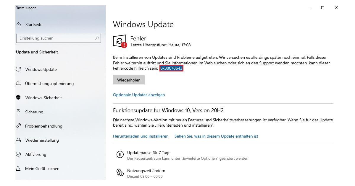 2018-11 Mise à jour de Windows 10 version 1803 pour les systèmes basés sur x64 (KB4023057) - Erreur 0x80070643