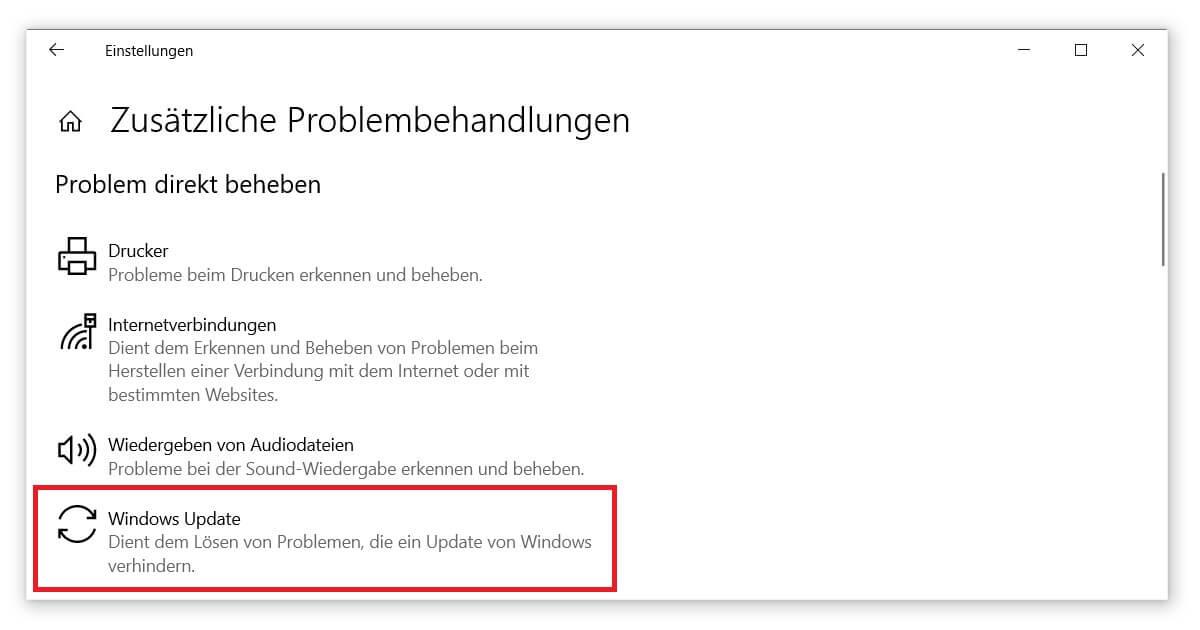 Le dépanneur de Windows Update aide à résoudre l'erreur 0x80070643